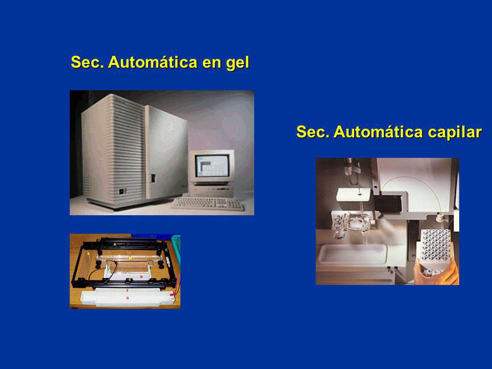 Sec. Automática en gel Sec. Automática capilar