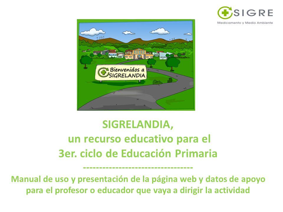 SIGRELANDIA, un recurso educativo para el 3er