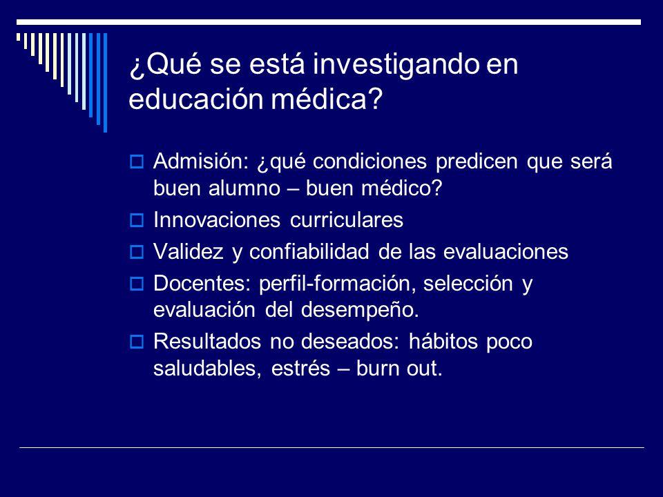 ¿Qué se está investigando en educación médica