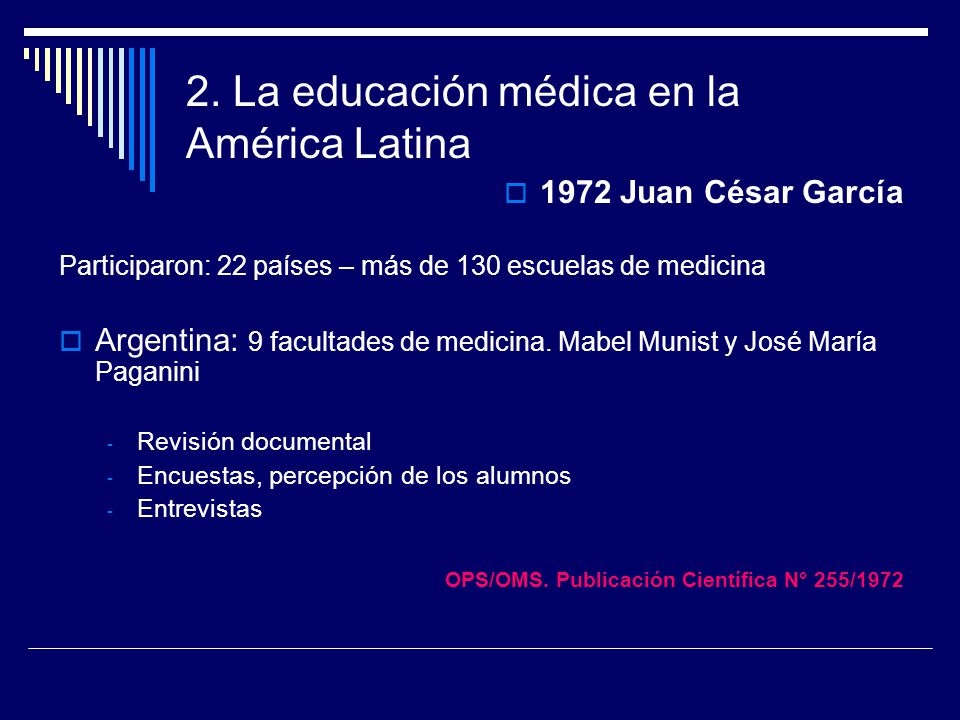 2. La educación médica en la América Latina