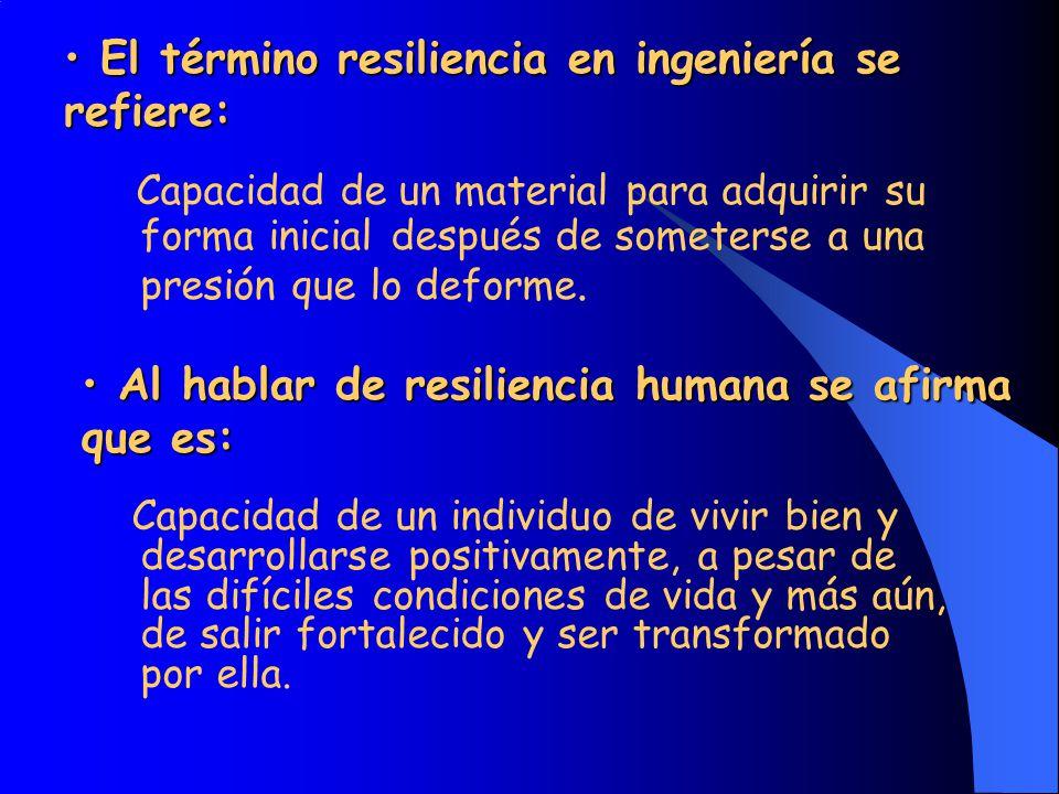El término resiliencia en ingeniería se refiere: