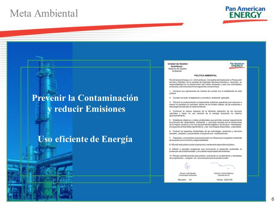 Prevenir la Contaminación Uso eficiente de Energía