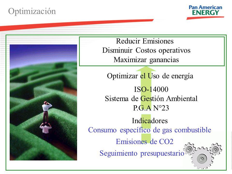 Optimización Reducir Emisiones Disminuir Costos operativos
