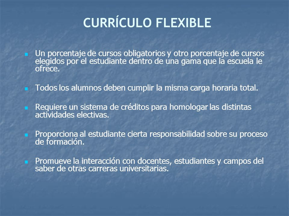 CURRÍCULO FLEXIBLE