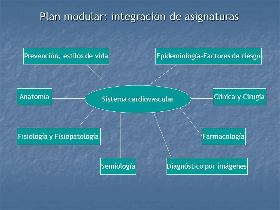 Plan modular: integración de asignaturas