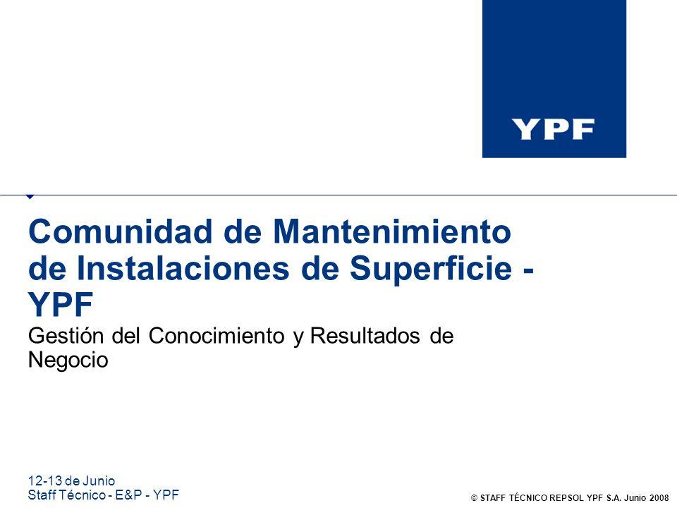 Comunidad de Mantenimiento de Instalaciones de Superficie - YPF