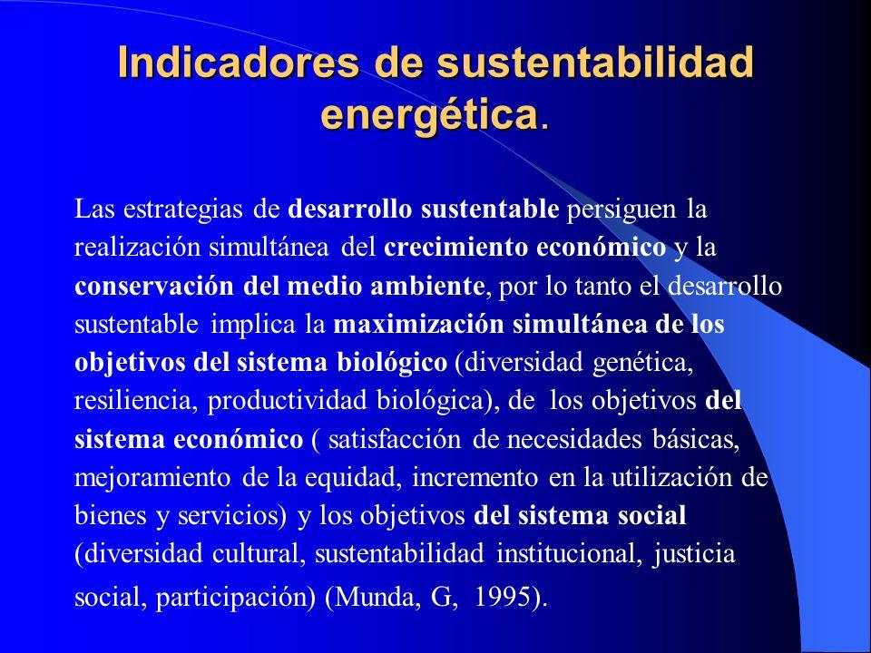 Indicadores de sustentabilidad energética.