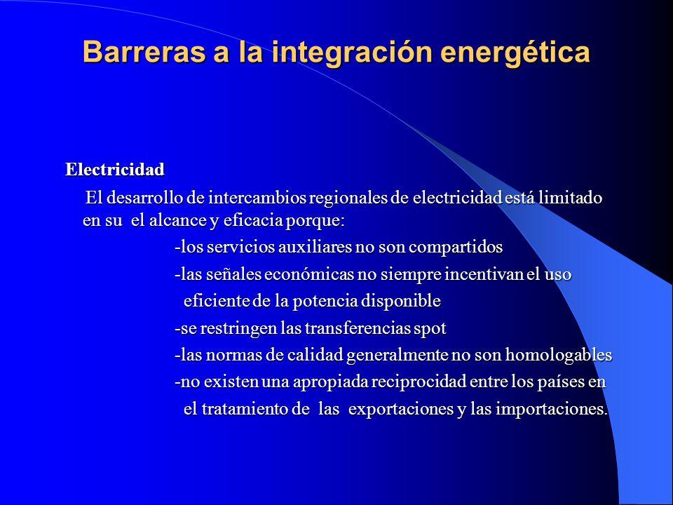 Barreras a la integración energética
