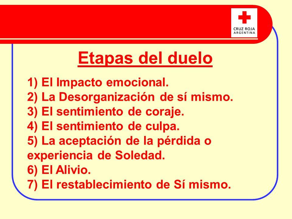 Etapas del duelo 1) El Impacto emocional.