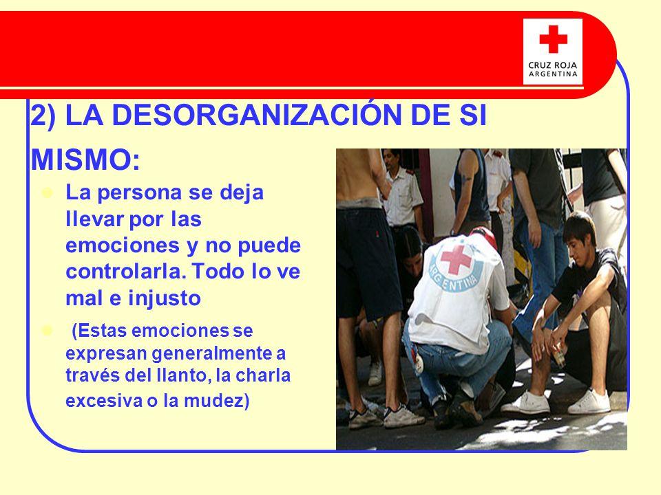 2) LA DESORGANIZACIÓN DE SI MISMO: