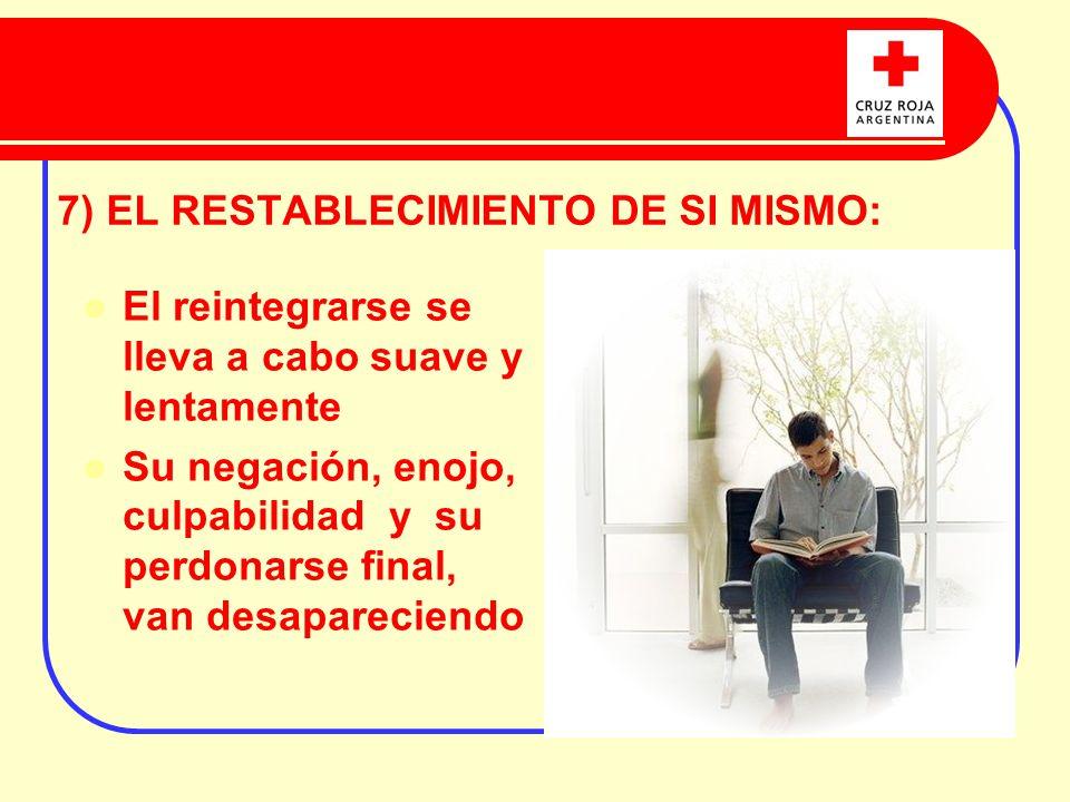 7) EL RESTABLECIMIENTO DE SI MISMO: