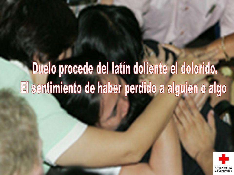 Duelo procede del latín doliente el dolorido.