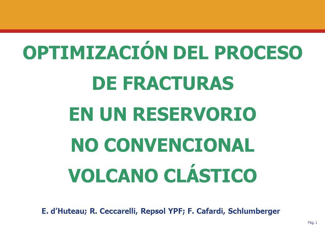 OPTIMIZACIÓN DEL PROCESO DE FRACTURAS