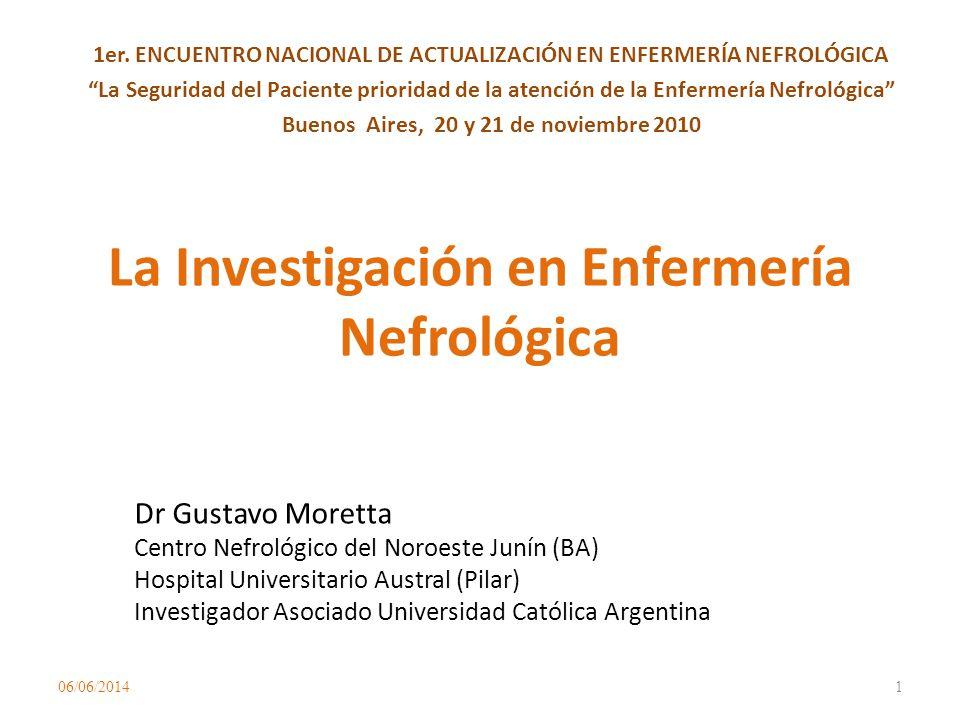 La Investigación en Enfermería Nefrológica