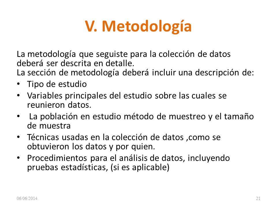 V. Metodología