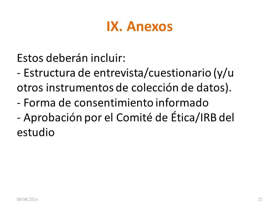 IX. Anexos