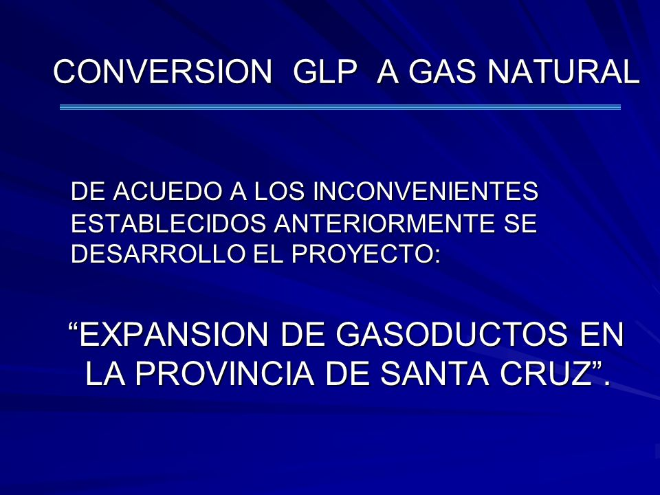 CONVERSION GLP A GAS NATURAL