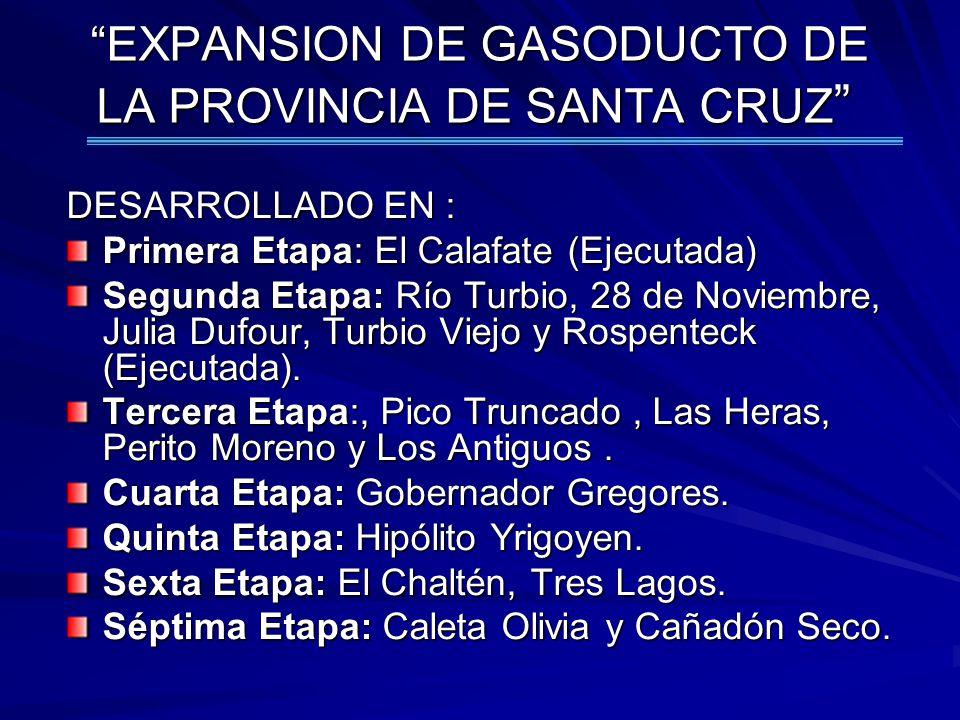 EXPANSION DE GASODUCTO DE LA PROVINCIA DE SANTA CRUZ