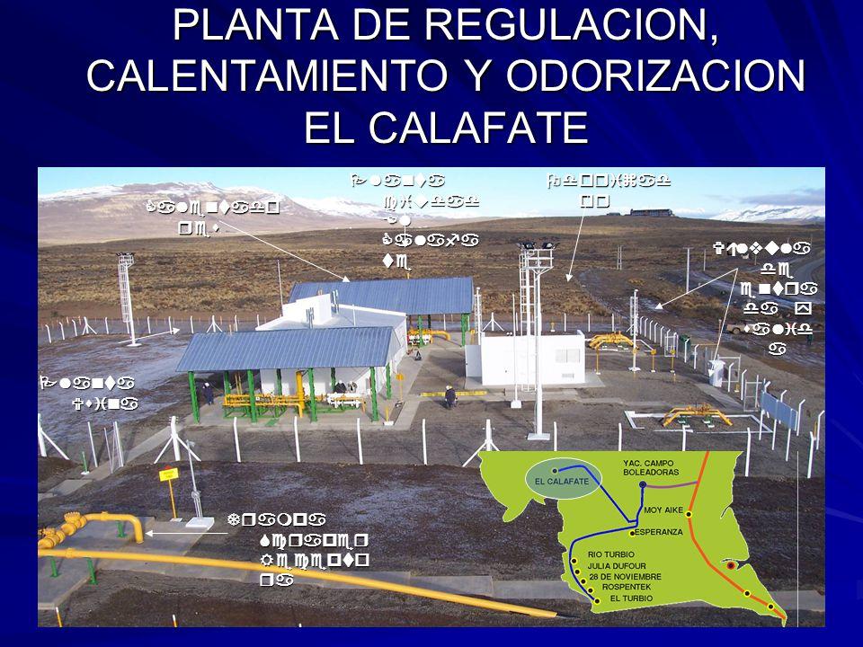 PLANTA DE REGULACION, CALENTAMIENTO Y ODORIZACION EL CALAFATE