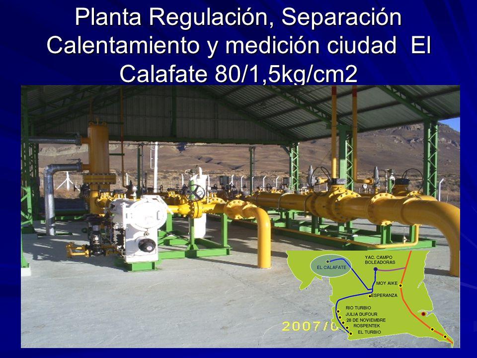 Planta Regulación, Separación Calentamiento y medición ciudad El Calafate 80/1,5kg/cm2