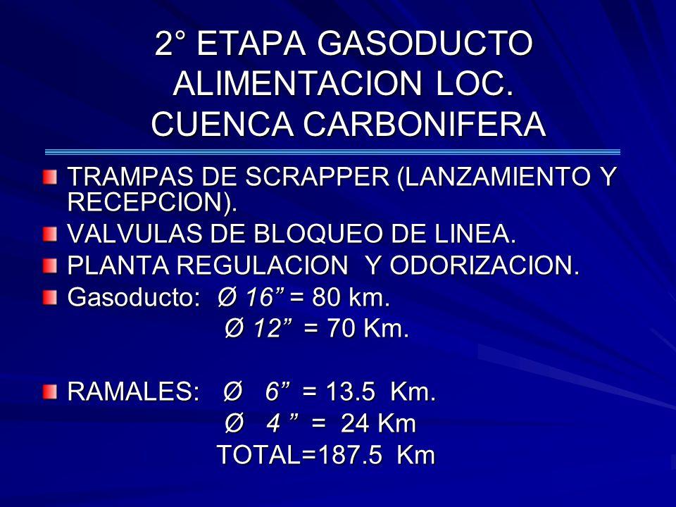 2° ETAPA GASODUCTO ALIMENTACION LOC. CUENCA CARBONIFERA