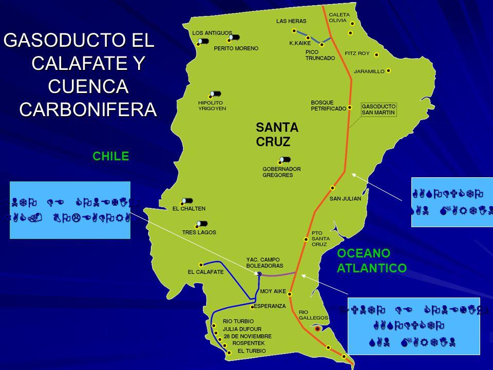 GASODUCTO EL CALAFATE Y CUENCA CARBONIFERA