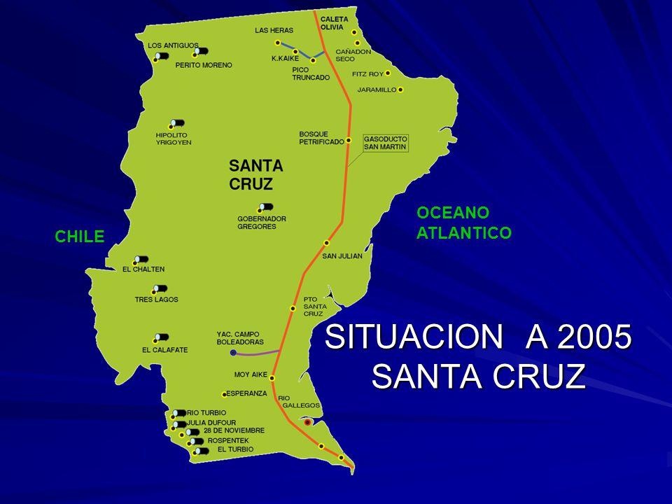 OCEANO ATLANTICO CHILE SITUACION A 2005 SANTA CRUZ