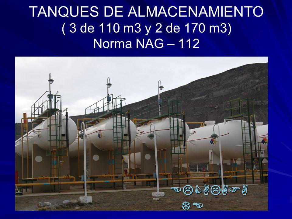 TANQUES DE ALMACENAMIENTO ( 3 de 110 m3 y 2 de 170 m3) Norma NAG – 112