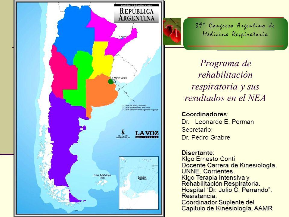 Programa de rehabilitación respiratoria y sus resultados en el NEA
