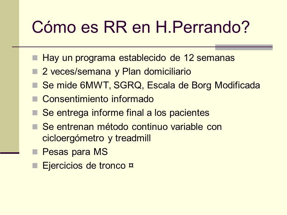 Cómo es RR en H.Perrando Hay un programa establecido de 12 semanas