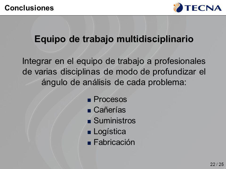 Equipo de trabajo multidisciplinario