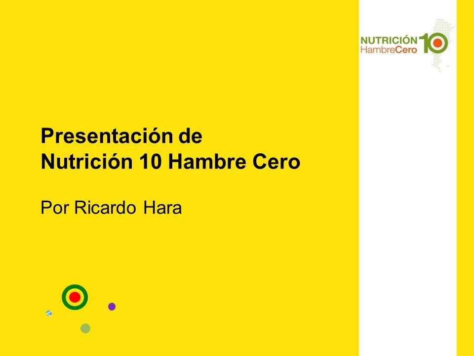 Presentación de Nutrición 10 Hambre Cero Por Ricardo Hara