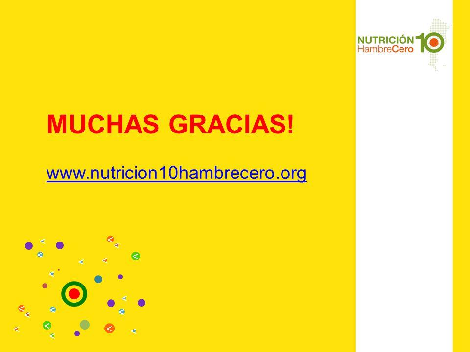 MUCHAS GRACIAS! www.nutricion10hambrecero.org