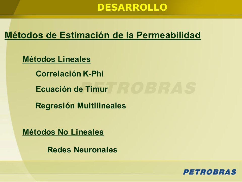 Métodos de Estimación de la Permeabilidad Regresión Multilineales