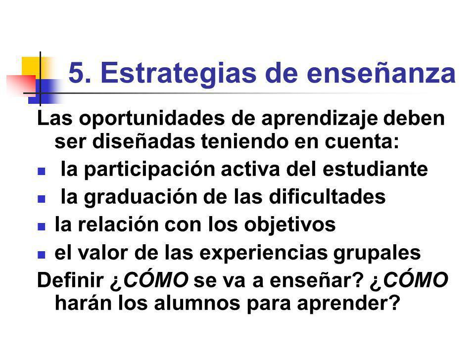 5. Estrategias de enseñanza