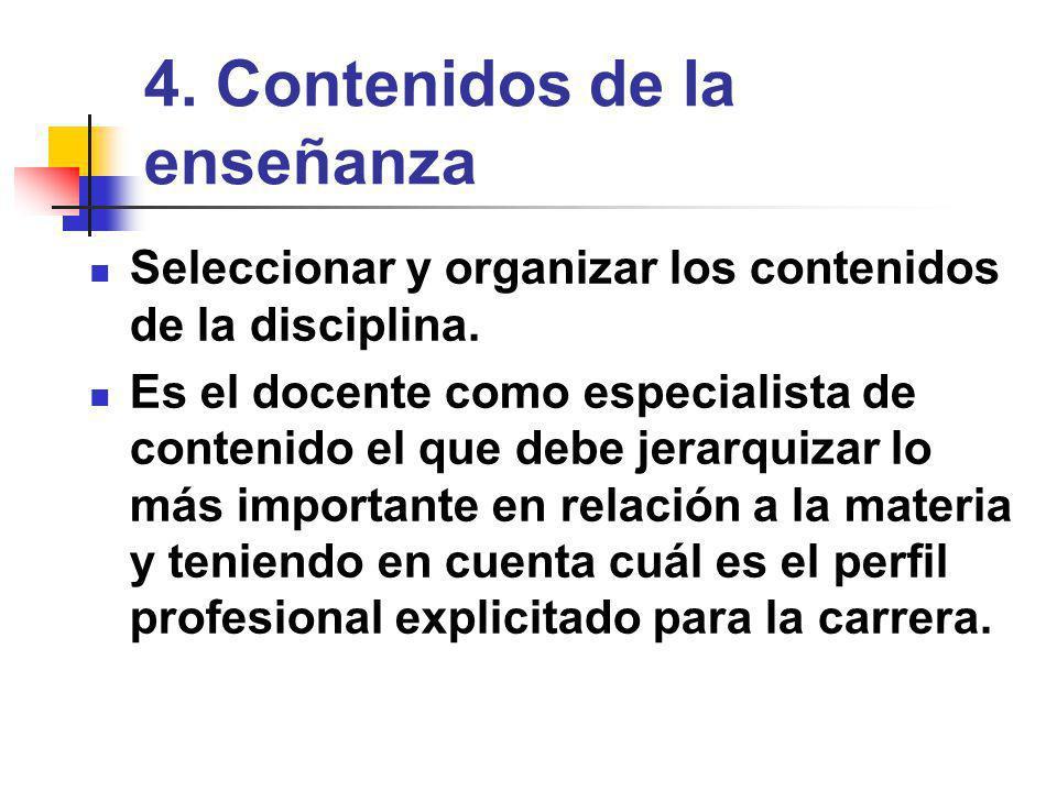 4. Contenidos de la enseñanza