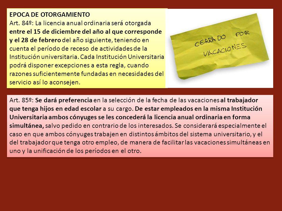 EPOCA DE OTORGAMIENTO