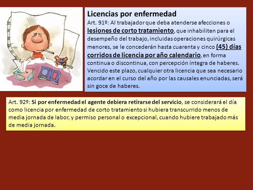 Licencias por enfermedad