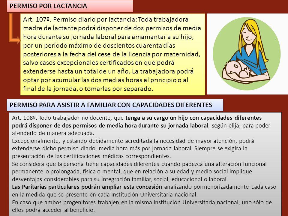 PERMISO PARA ASISTIR A FAMILIAR CON CAPACIDADES DIFERENTES