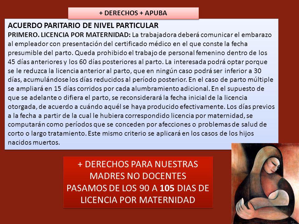 + DERECHOS PARA NUESTRAS MADRES NO DOCENTES