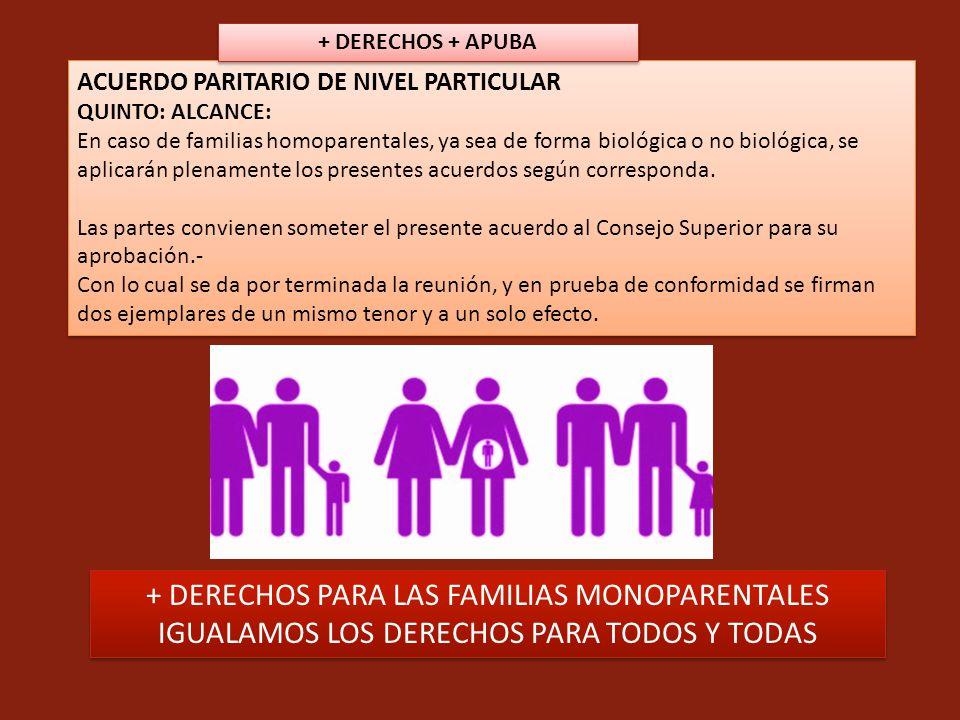 + DERECHOS PARA LAS FAMILIAS MONOPARENTALES
