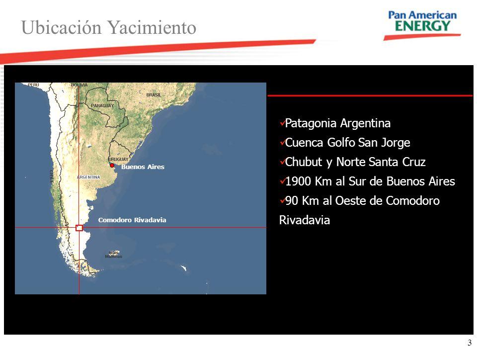 Ubicación Yacimiento Patagonia Argentina Cuenca Golfo San Jorge