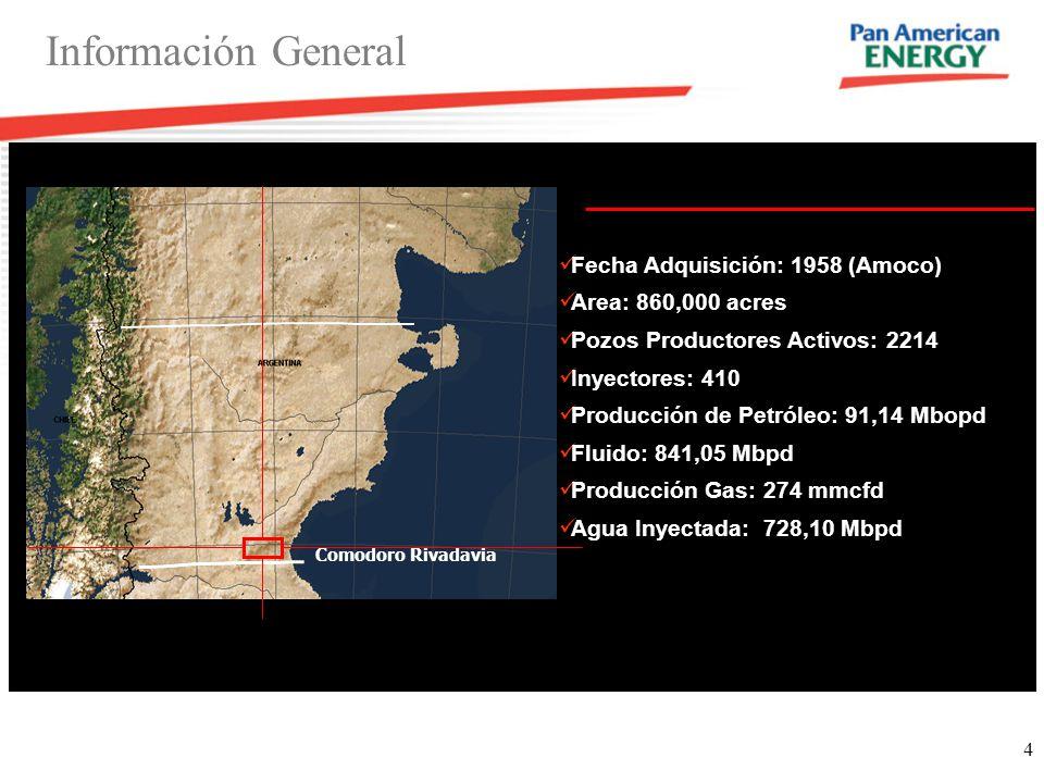 Información General Fecha Adquisición: 1958 (Amoco)