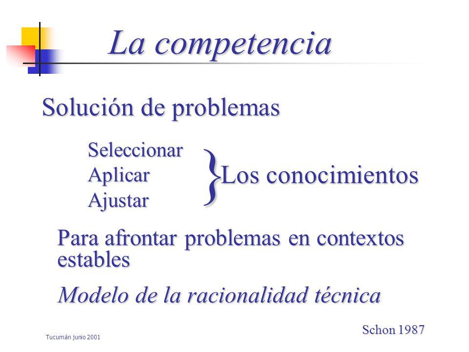 } La competencia Solución de problemas Los conocimientos