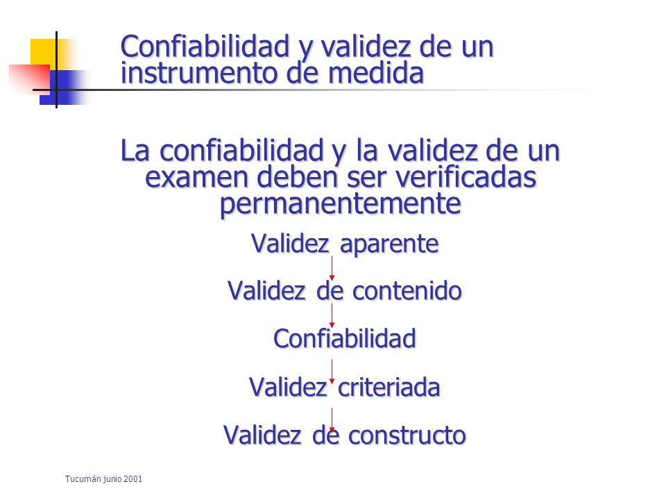 Confiabilidad y validez de un instrumento de medida
