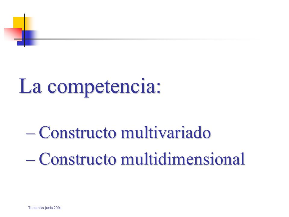 La competencia: Constructo multivariado Constructo multidimensional