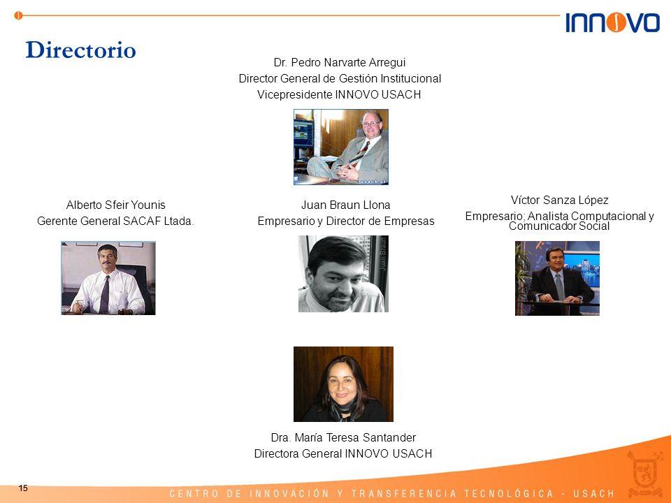 Directorio Dr. Pedro Narvarte Arregui
