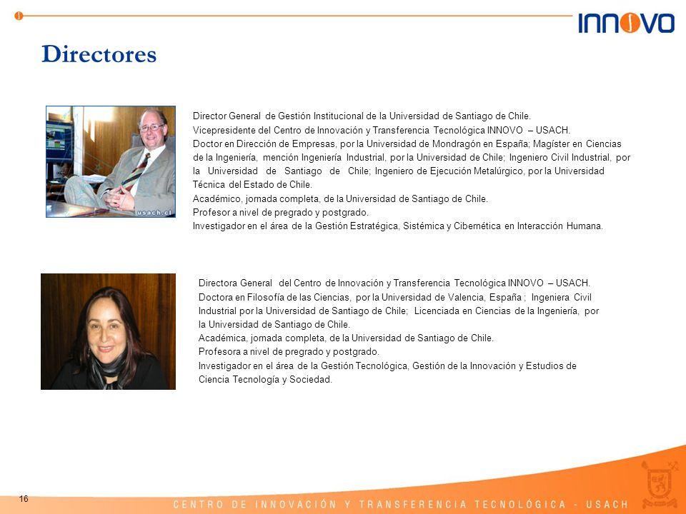 Directores Director General de Gestión Institucional de la Universidad de Santiago de Chile.