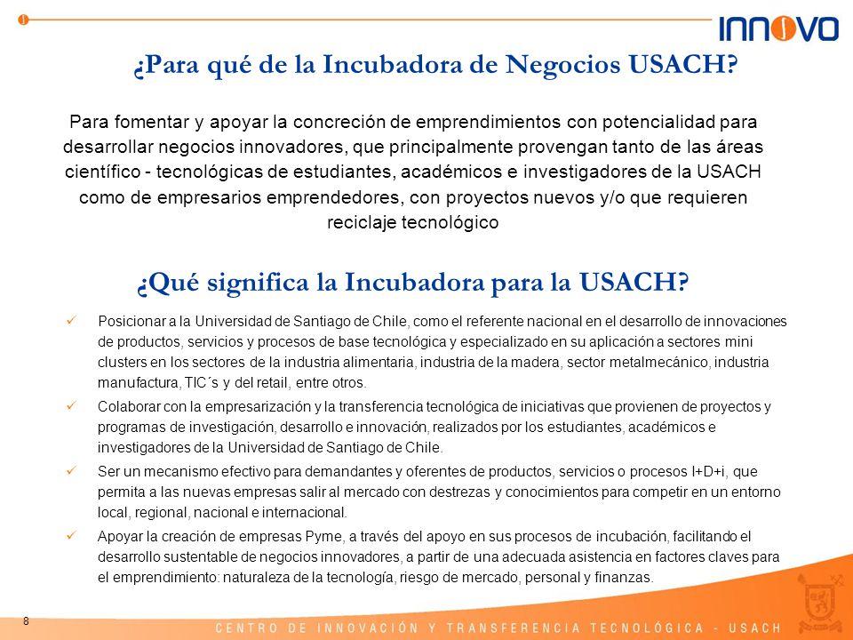 ¿Para qué de la Incubadora de Negocios USACH