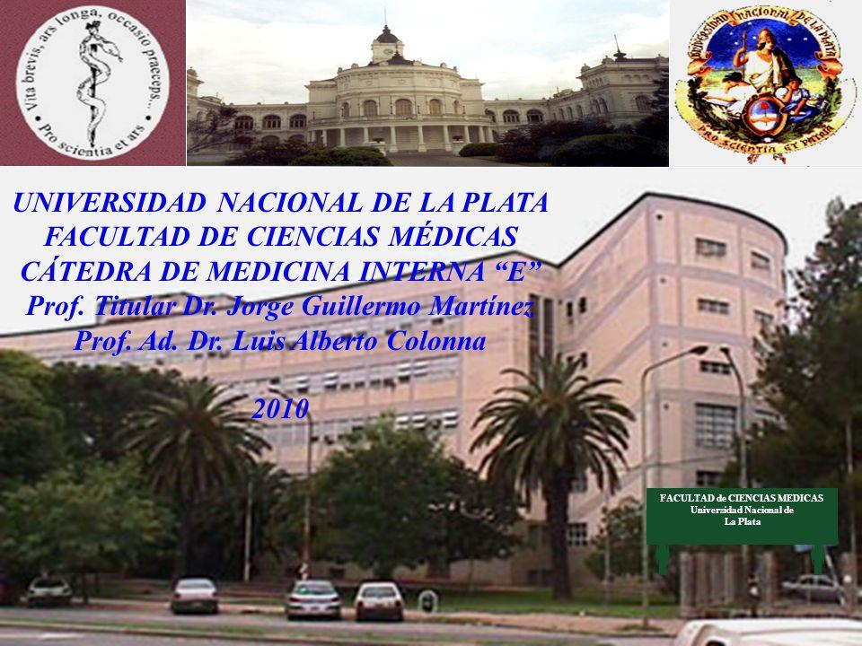 UNIVERSIDAD NACIONAL DE LA PLATA FACULTAD DE CIENCIAS MÉDICAS